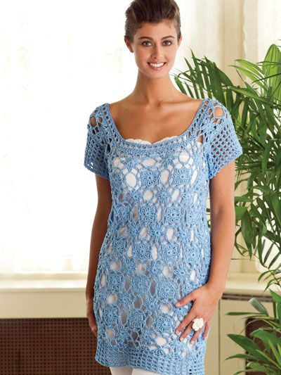 Crocheted Beach-to-Bistro Tunic  ~ pattern available