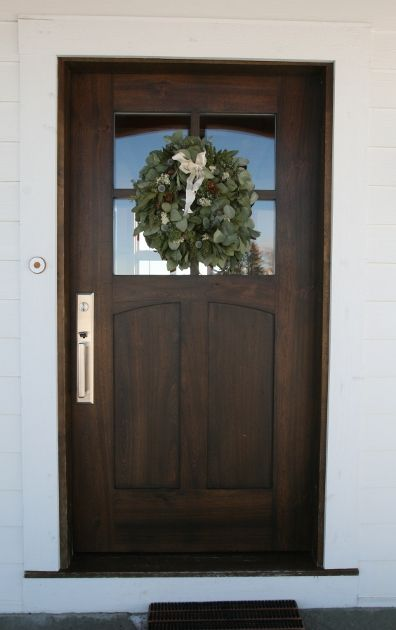 Contemporary farm house door wood stain for the home for Natural wood front door