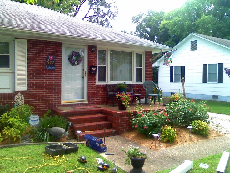 Cute way to add small front porch mallard ln pinterest for Cute front porches