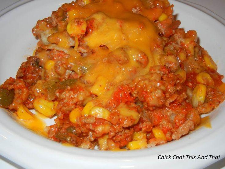 Beef Nacho Casserole with CCTNT | Casseroles | Pinterest