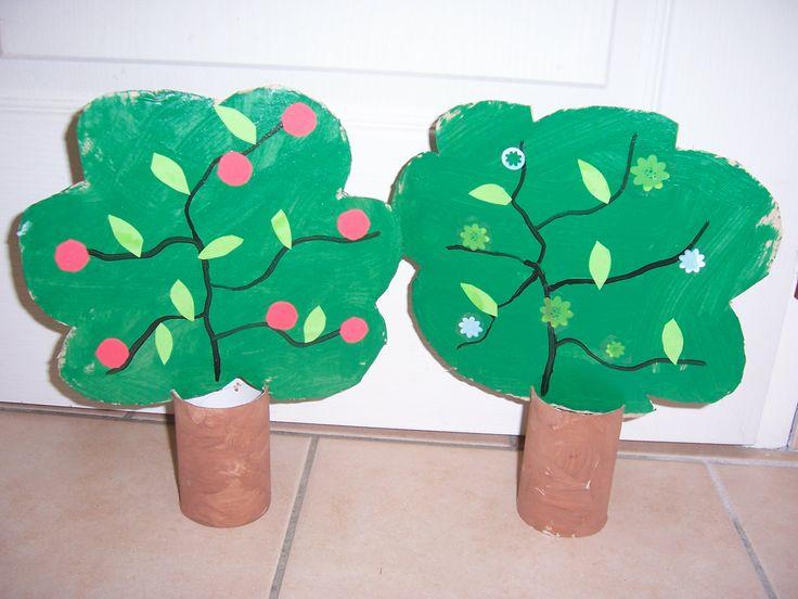arbres avec rouleau papier toilette bricolage fait a la maison. Black Bedroom Furniture Sets. Home Design Ideas