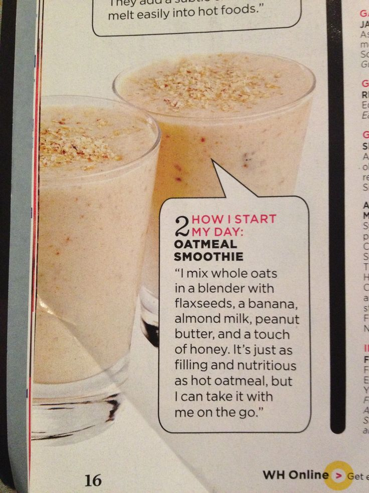 Oatmeal smoothie | In the Kitchen | Pinterest