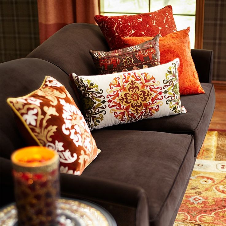 Living Room Decorating Ideas For Fall: Pier Imports Fall Colors