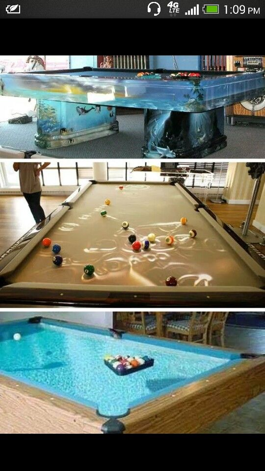 pool table fish tank cool fish tanks pinterest