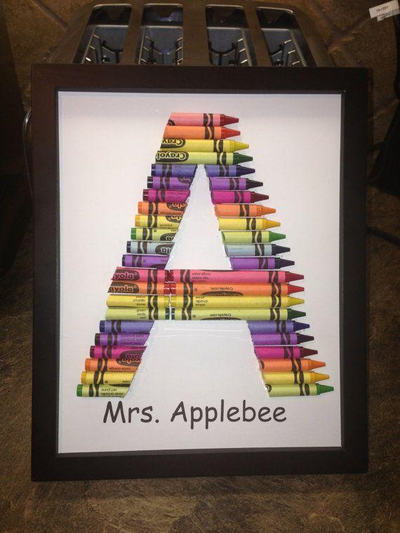 Handmade Crayon Letter Monogram