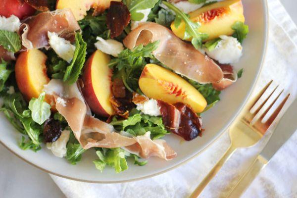 Peach Salad | Soup and Salad | Pinterest