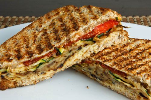 Grilled Vegetable Panini By Closet Cooking