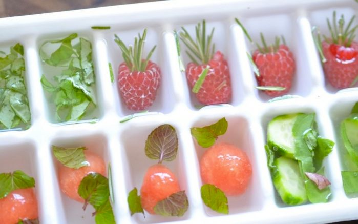 fruit and herb ice cubes | Fit Foodie | Pinterest