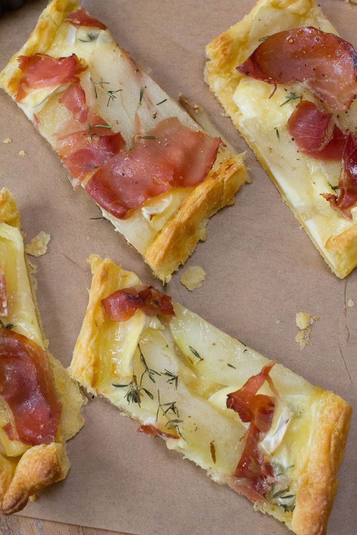 Pear, prosciutto and brie tart | Fabulous Food | Pinterest