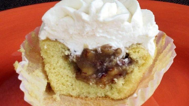 Pecan Pie-Stuffed Cupcakes | Recipe