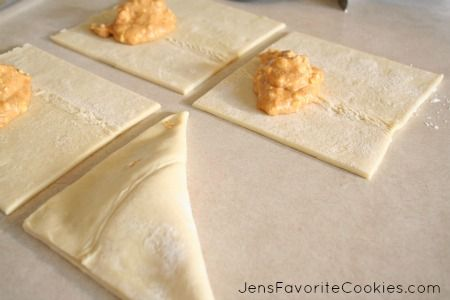 pumpkin cream cheese turnovers