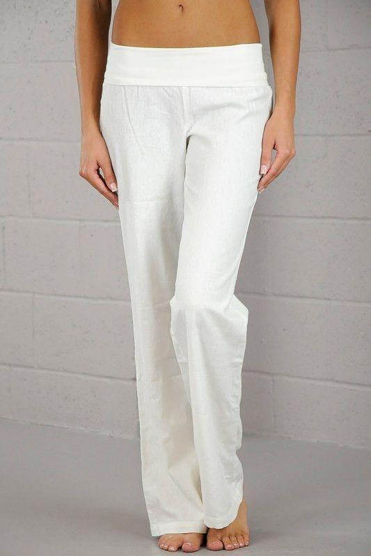 Innovative Lauren By Ralph Lauren Plus Size Wideleg Linen Pants In White  Lyst