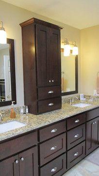 Double sink vanity master ensuite pinterest