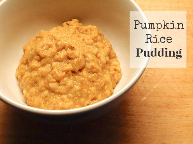 Pumpkin Rice Pudding | Pumpkin goodies | Pinterest