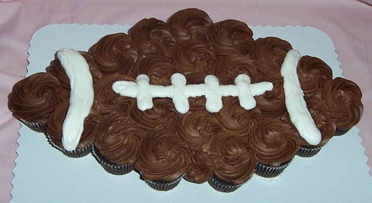 cupcake football for tailgating | Razorbacks | Pinterest