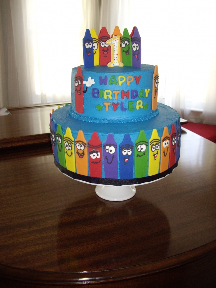 Cute crayon cake crayon birthday party pinterest - Color for th birthday ...
