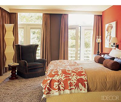 orange accent wall w brown tan house style pinterest