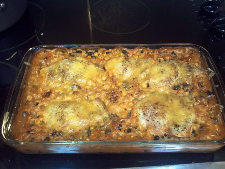 Spanish Chicken and Rice Bake | Mexican | Pinterest