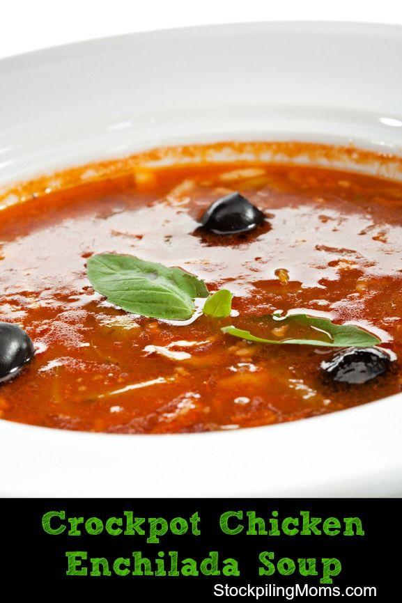 Crockpot Chicken Enchilada Soup   Recipe
