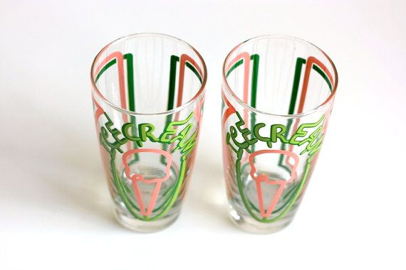 Vintage Libbey Ice Cream Shop Glasses by WiseApple on Etsy, $16.00