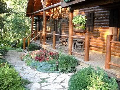 Cabin Landscape Log Me In Pinterest