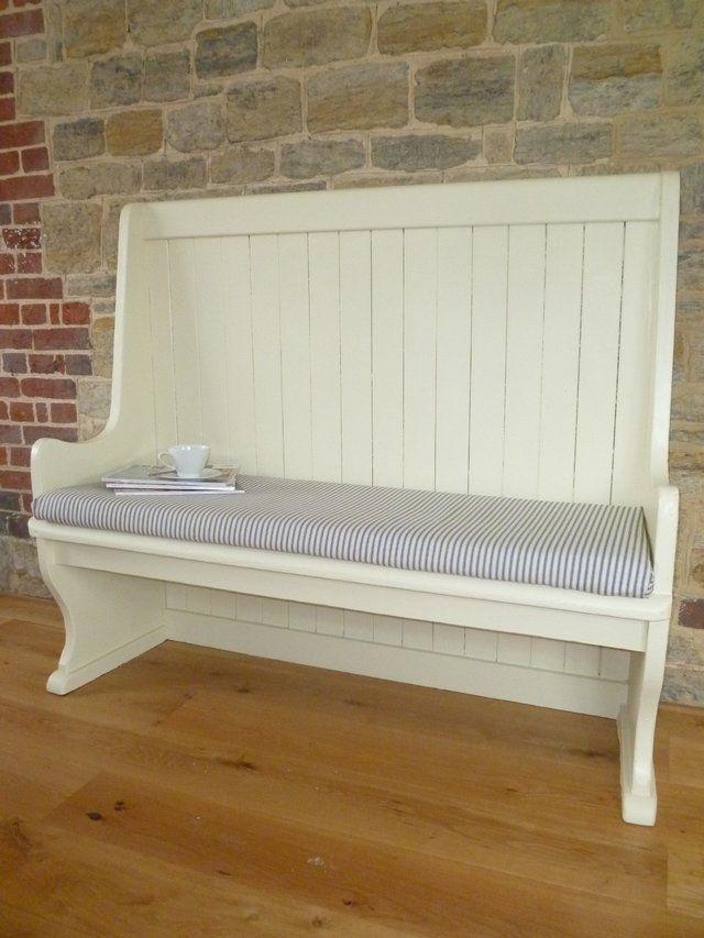 painted church pew for sale ideas pinterest. Black Bedroom Furniture Sets. Home Design Ideas
