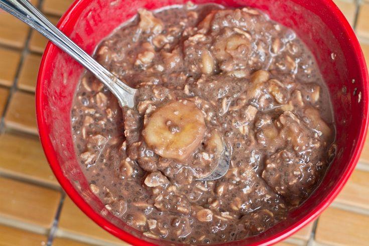 Carob Banana Chia Vegan Overnight Oats | Favourite Recipes {Breakfast ...