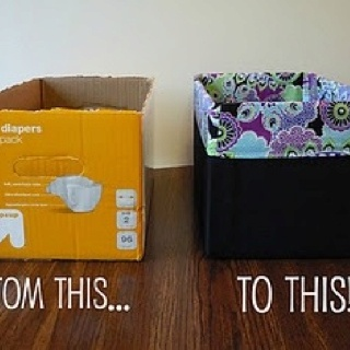 Make your own storage bins | JU | Pinterest
