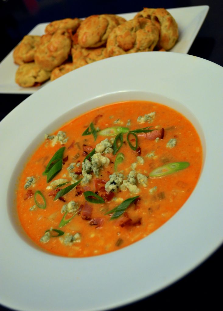 ... Corn Chowder & Blue Cheese Gougères with step by step pictures
