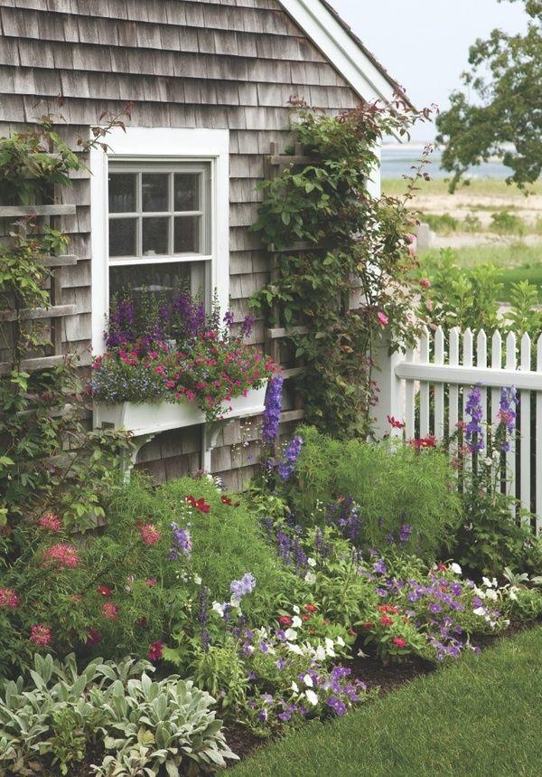 Cape cod seaside garden garden behind the cottage for Seaside garden designs