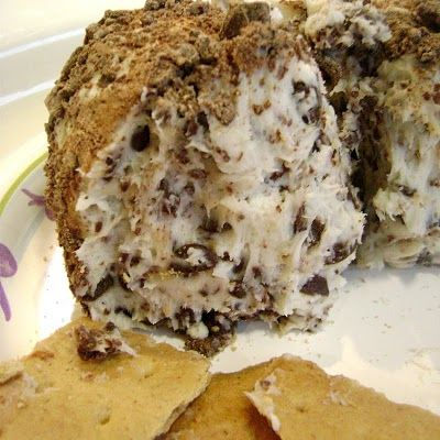 Chocolate Chip Cheese Ball | Sweets for my Sweets! | Pinterest