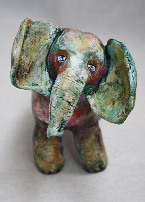 Forest Totem 6 - Elephant Sculpture, Animal Friend ...