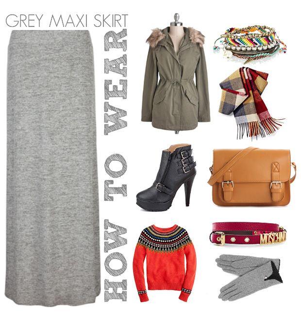 how to wear a grey maxi skirt moda vestidos