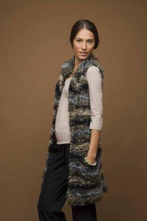 Knit Long Fuzzy Vest...free pattern Crochet/Knit: Outerwear(jackets?