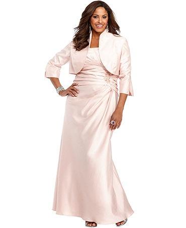 Pink mother of the bride dresses macy 39 s junoir for Macy wedding dresses mother of the bride