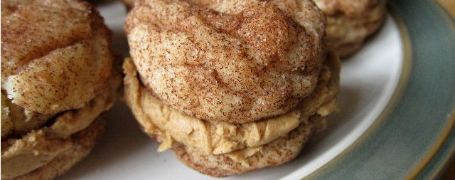 Snickerdoodle sandwich. The filling is a Biscoff cinnamon mixture.