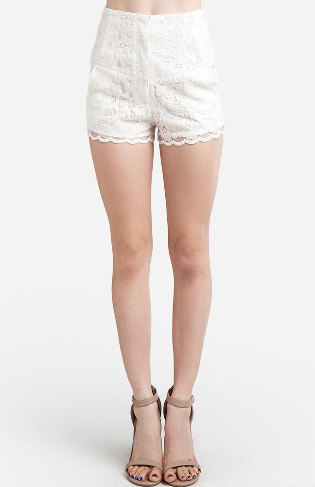 High waisted floral lace shorts styles i love pinterest