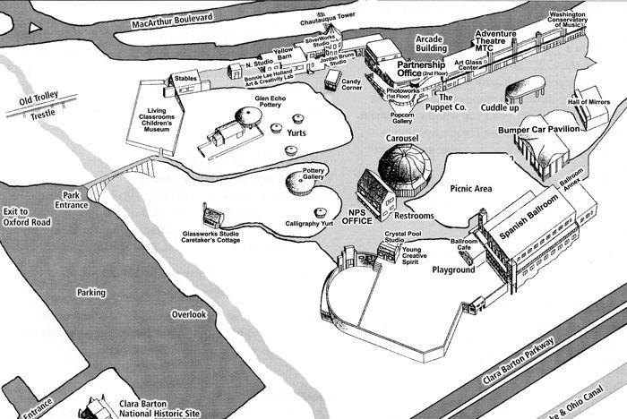 Glen Echo Park Park Map Glen Echo Park Pinterest