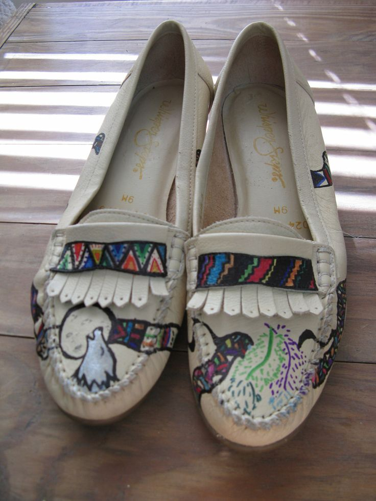 Leather custom native american high heeled moccasin by sundame 23 50