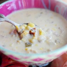 Corn Chowder with Chilies Recipe   recipes2   Pinterest