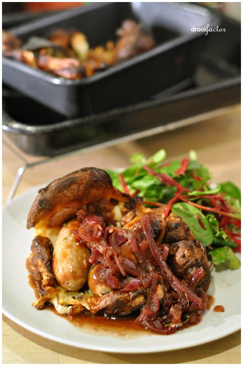 "Traditional British ""Toad in the Hole"" 
