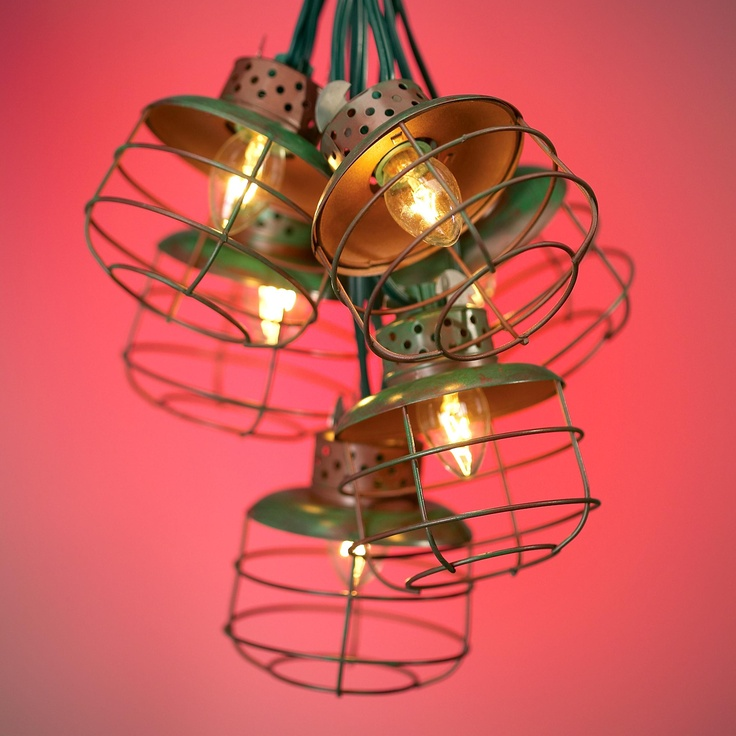 Metal Cage Lantern String Party Lights