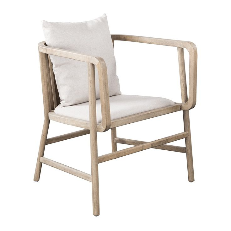 FRITZ LOUNGE OAK LINEN CHAIR LINEN - Seating - Living - HD Buttercup Online – No Ordinary Furniture Store – Los Angeles & San Francisco