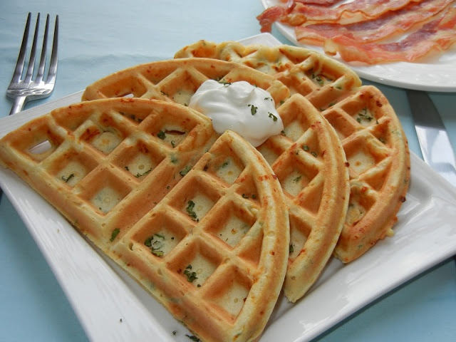 Smoked Cheese and Green Onion Waffles | Recipes: Savory | Pinterest