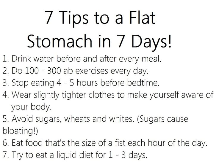 How To Flat Belly In 7 Days