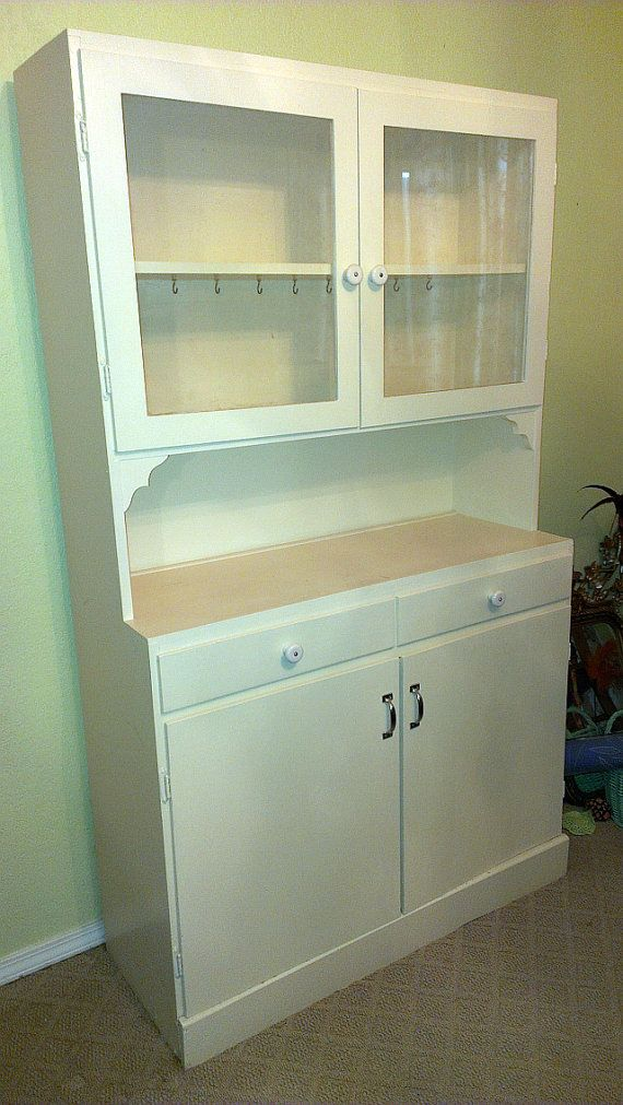 Vintage 1920s antique kitchen china cabinet hutch by for 1920 kitchen cabinets