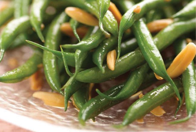 Baby French String Beans with Slivered Almonds - I use low sodium ...