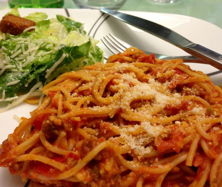 My favorite spaghetti recipe :) *angel hair pasta *arrabbiata pasta ...