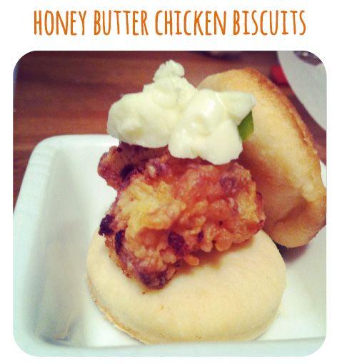 Honey Butter Chicken Biscuits! | Food | Pinterest