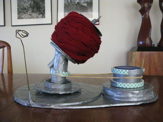 how to make a homemade yarn winder